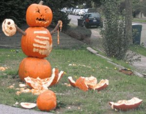 And if you lose, just take your frustration out on the pumpkin itself.