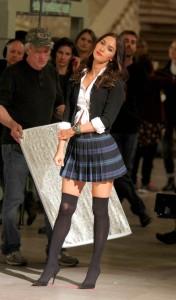 Megan Fox at the 'Teenage Mutant Ninja Turtles 2' set in NYC